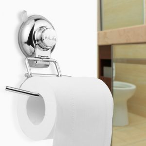 Toilet Paper Holder Eslife Suction Stainless Steel Vacuum Suction